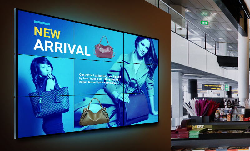Video Wall Example in a Shopping Setting
