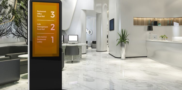 Wayfinding at a hotel lobby